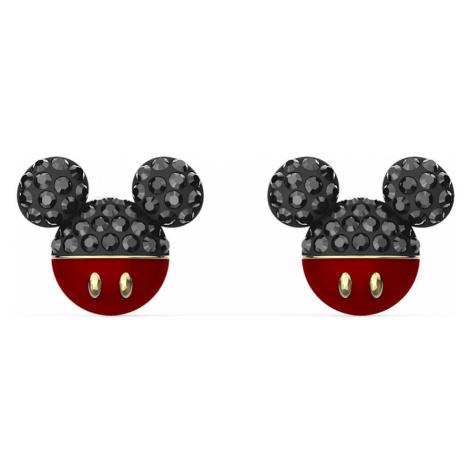 Swarovski Mickey Black Crystal Stud Earrings