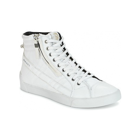 Diesel D-STRING PLUS men's Shoes (High-top Trainers) in White