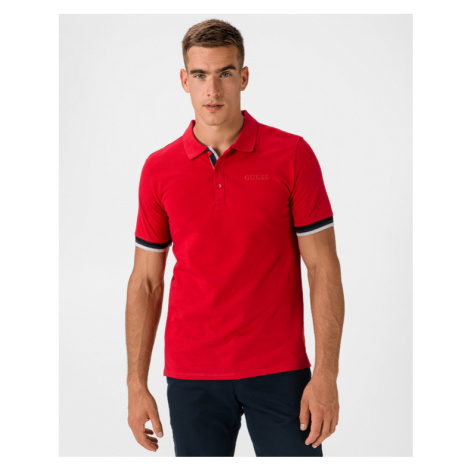 Guess Clancy Polo Shirt Red