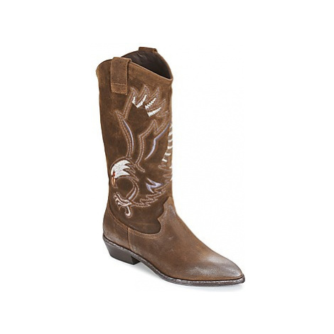 Now SATURNA women's High Boots in Brown