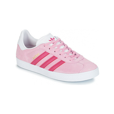 Adidas GAZELLE J girls's Children's Shoes (Trainers) in Pink