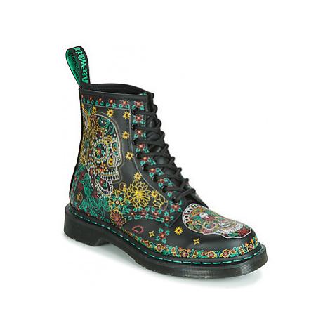 Dr Martens 1460 SKULL BACKHAND women's Mid Boots in Multicolour