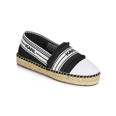 Karl Lagerfeld KAMINI PATCHWORK SLIP women's Espadrilles / Casual Shoes in Black