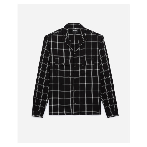The Kooples - Flowing black and white shirt with motif - MEN