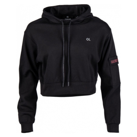 Calvin Klein CROPPED HOODIE black - Women's sweatshirt