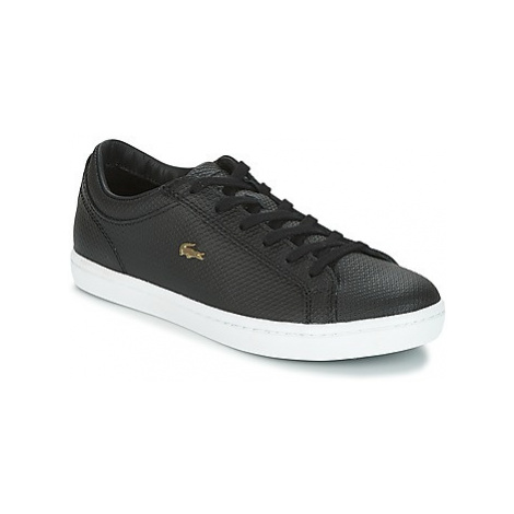 Lacoste STRAIGHTSET CHANTACO women's Shoes (Trainers) in Black