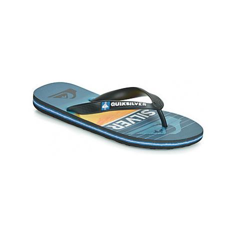 Quiksilver MOLOKAI HIGHLINE SLAB YTH B SNDL XKBB girls's Children's Flip flops / Sandals in Blac