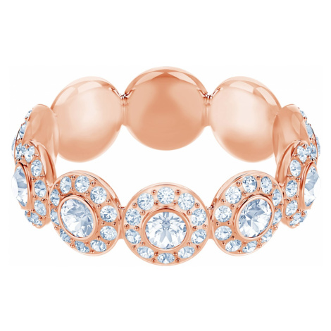 Angelic Ring, White, Rose-gold tone plated Swarovski