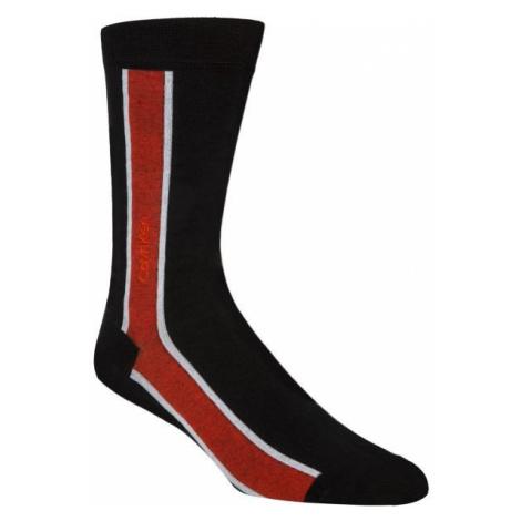 Calvin Klein VERTICAL STRIPE CREW black - Men's socks