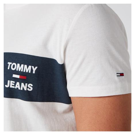 Tommy Jeans Men's Chest Stripe Logo T-Shirt - White Tommy Hilfiger