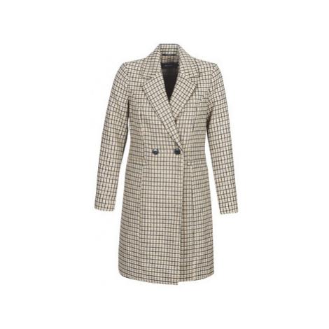 Vero Moda VMCHECK women's Coat in Beige