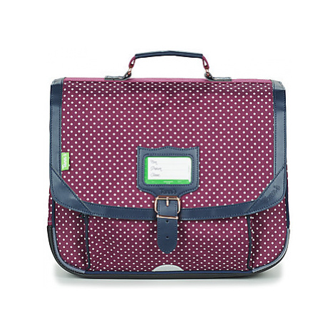 Tann's MIKI CARTABLE 38 CM girls's Briefcase in Bordeaux