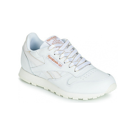 Reebok Classic CLASSIC LEATHER J girls's Children's Shoes (Trainers) in White