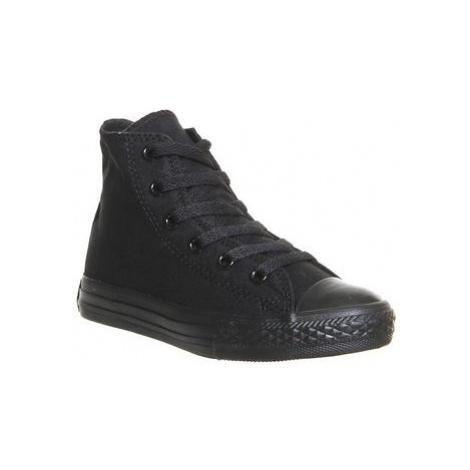 Converse All Star Hi Mid Sizes BLACK MONO