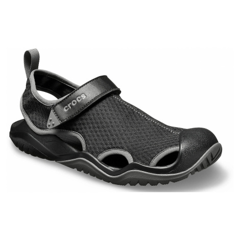 shoes Crocs Swiftwater Mesh Deck Sandal - Black - men´s