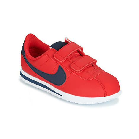 Nike CLASSIC CORTEZ PS boys's Children's Shoes (Trainers) in Red