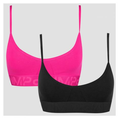MP Women's Cotton Bra - Super Pink/Black (2 Pack) Myprotein