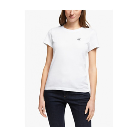 Calvin Klein Jeans Embroidered Logo Slim T-Shirt, Bright White