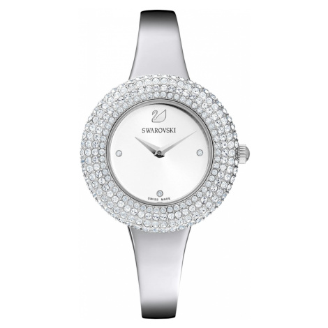 Crystal Rose Watch, Metal bracelet, Silver Tone, Stainless steel Swarovski
