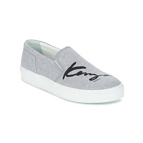 Grey women's slip-on shoes