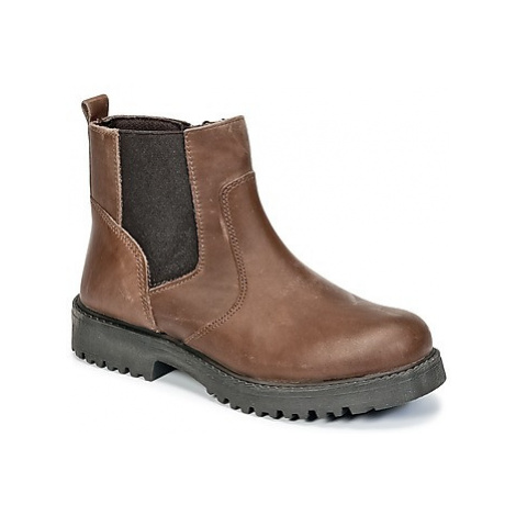 Citrouille et Compagnie HAFIN boys's Children's Mid Boots in Brown