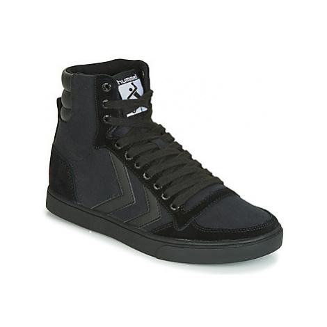 Hummel TEN STAR TONAL HIGH women's Shoes (High-top Trainers) in Black