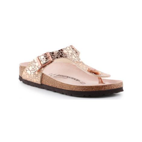 Birkenstock Gizeh BS 1005675 women's Flip flops / Sandals (Shoes) in Gold