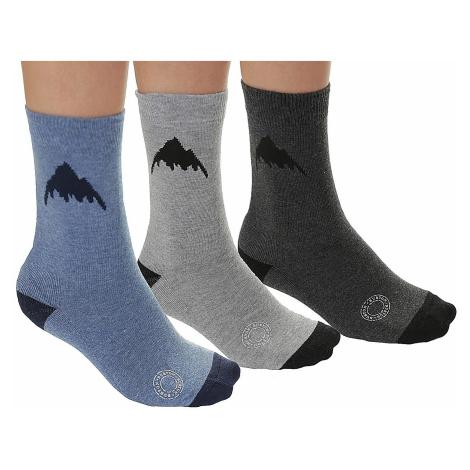socks Burton Apres 3 Pack - Heathered
