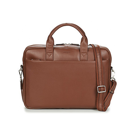 Hexagona - men's Briefcase in Brown