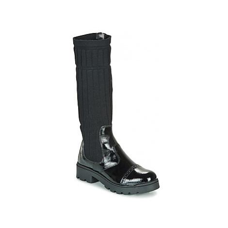 Citrouille et Compagnie LAPADOU girls's Children's Mid Boots in Black