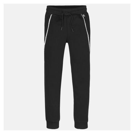 Calvin Klein Jeans Boy's Logo Piping Sweatpants - Black