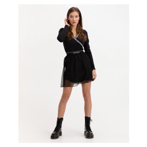 Calvin Klein Logo Waistband Mini Skirt Black