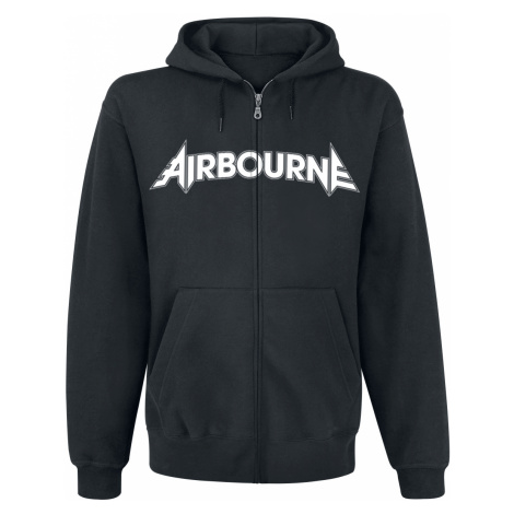 Airbourne - Playing Cards - Hooded zip - black