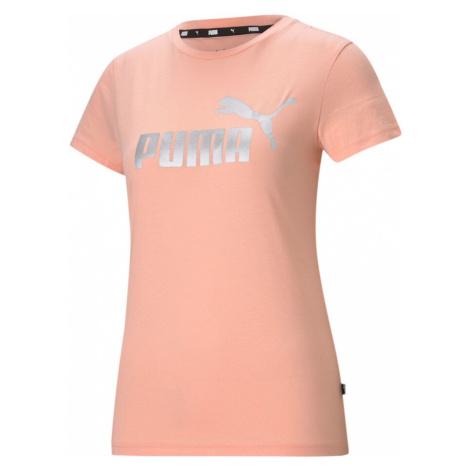 Essential Metallic Logo T-Shirt Women Puma