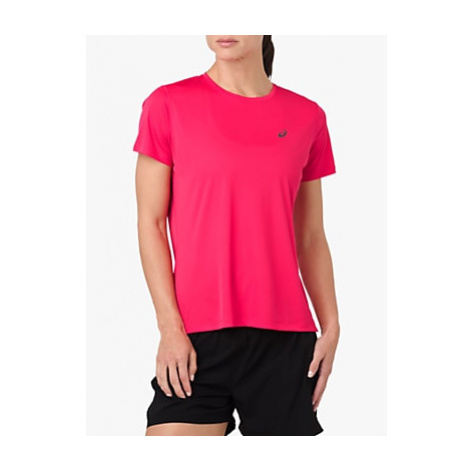 ASICS Silver Short Sleeve Running Top, Pixel Pink