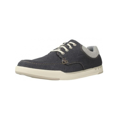 Clarks STEP ISLE LACE men's Shoes (Trainers) in Blue