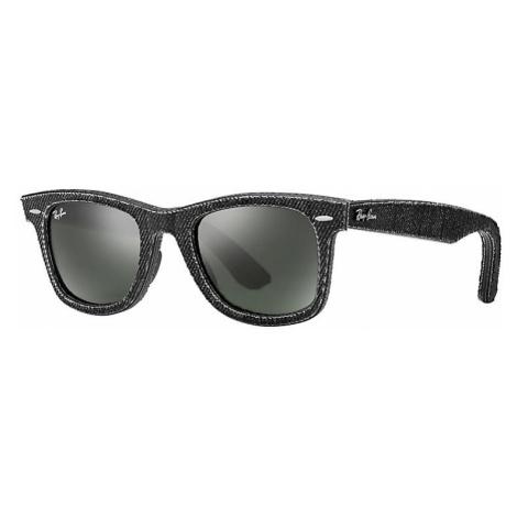 Ray-Ban Original wayfarer denim Unisex Sunglasses Lenses: Green, Frame: Black - RB2140 1162 50-2