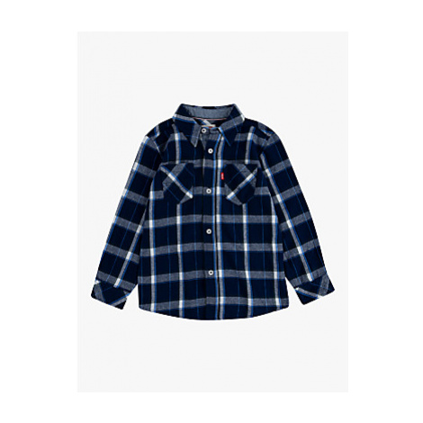 Levi's Boys' Long Sleeve Check Shirt, Blue Levi´s