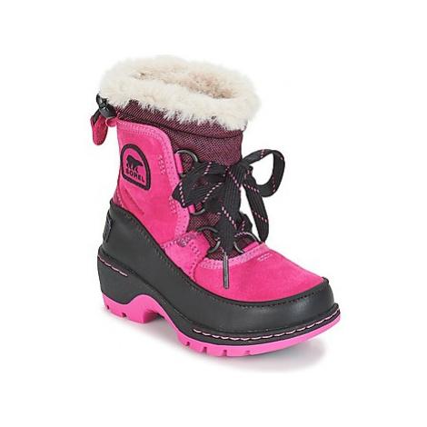 Sorel CHILDREN'S TORINO III CAMO girls's Children's Snow boots in Pink