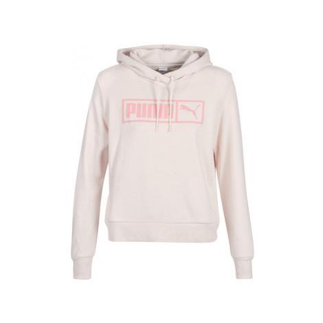 Puma CLASSICS LOGO HOODY women's Sweatshirt in Beige