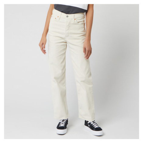 Levi's Women's Ribcage Straight Ankle Corduroy Jeans - Ecru Wide Wale Levi´s