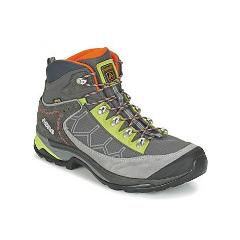 Grey men's trekking and outdoor shoes
