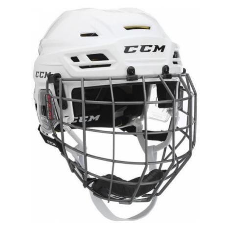 CCM TACKS 310C SR COMBO white - Hockey helmet