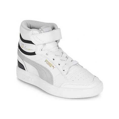 Puma RALPH SAMPSON MID PS girls's Children's Shoes (High-top Trainers) in White