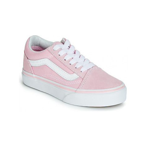 Vans OLD SKOOL girls's Children's Shoes (Trainers) in Pink