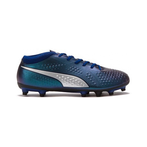 Puma One 4 Synthetic Firm Ground Football Boots - Dark Blue