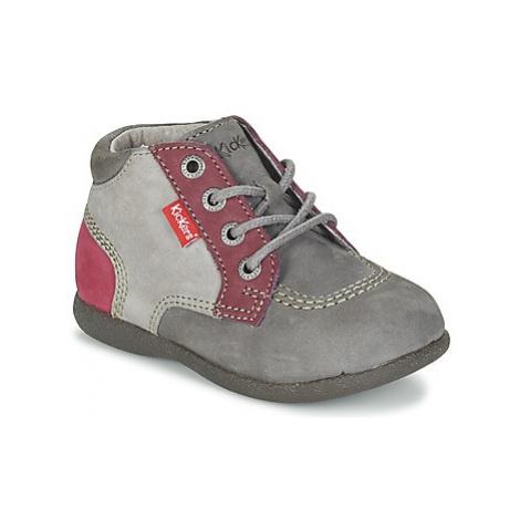 Kickers BABYSTAN girls's Children's Mid Boots in Grey