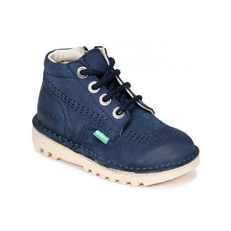Kickers NEORALLYZ boys's Children's Mid Boots in Blue