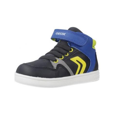 Geox B DJROCK BOY boys's Children's Shoes (High-top Trainers) in Blue