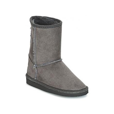 Grey girls' winter shoes